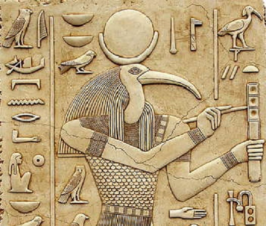 thoth egyptian relief